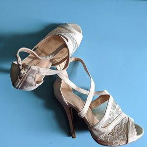 Cream Lace Heels